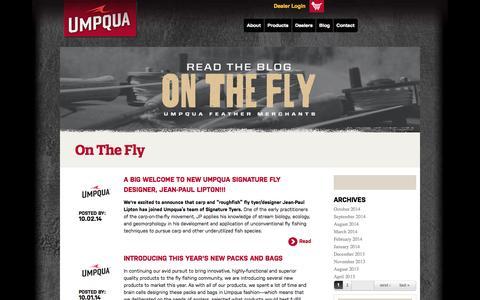 Screenshot of Blog umpqua.com - On The Fly | Umpqua - captured Oct. 4, 2014
