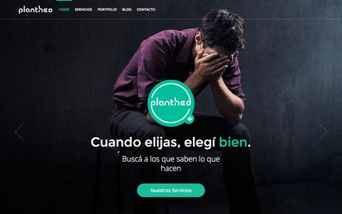 Screenshot of Home Page plantheo.com - PLANTHEO | Diseño Web | Diseño Gráfico | Diseño Editorial | Hecho en Canning - captured Oct. 2, 2015
