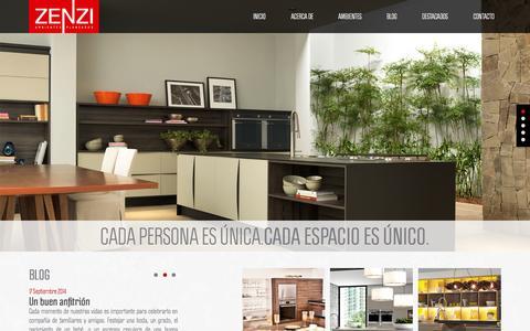 Screenshot of Home Page zenzi.com.co - ZENZI Ambientes Planeados - captured Oct. 9, 2014