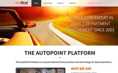 Screenshot of Home Page autopoint.com - AutoPoint - captured Oct. 4, 2014
