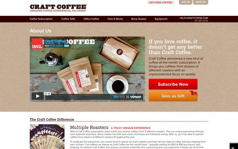 Screenshot of About Page craftcoffee.com - About | Craft Coffee - captured Sept. 13, 2014