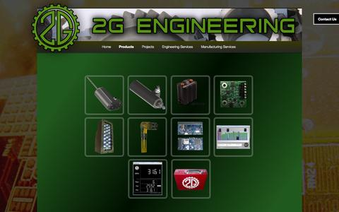 Screenshot of Products Page 2g-eng.com - Products | 2g Engineering - captured Oct. 7, 2014