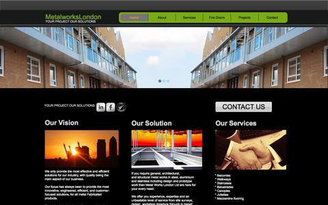 Screenshot of Home Page metalworkslondon.co - Metal Works London - captured Sept. 30, 2014