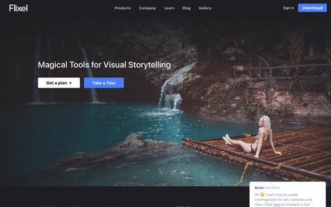 Screenshot of Home Page flixel.com - Flixel Living Photos - captured June 17, 2017