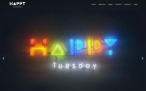 Screenshot of Home Page happy-tuesday.de - Happy Tuesday | We create fun mobile games - captured July 19, 2015