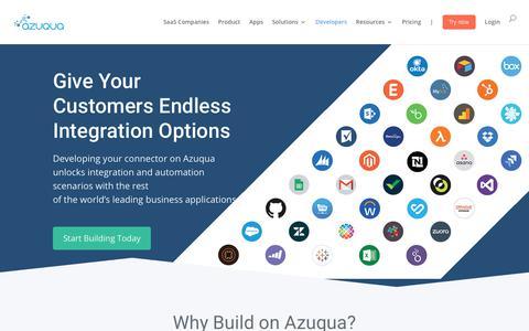 Screenshot of Developers Page azuqua.com - (2) New Messages! - captured Sept. 28, 2018