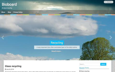Screenshot of Home Page bioboard.eu - Bioboard - All about recycling - captured Aug. 2, 2018
