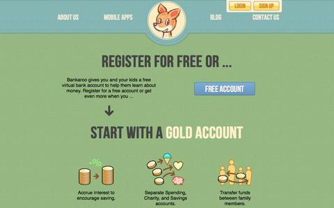 Screenshot of Signup Page bankaroo.com - bankaroo:: Register gold - captured Oct. 29, 2014