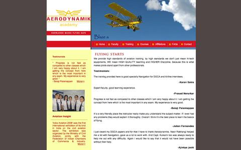 Screenshot of Testimonials Page aerodynamiks.com - Aerodynamiks Aviation Academy - Testimonials | Flying Training | DGCA | FAA | Airline Interview | Mumbai | Learing Experience - captured Feb. 5, 2016