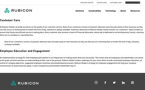 Customer Care and Service Provided by Rubicon Global