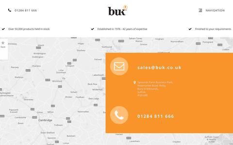 Screenshot of Contact Page buk.co.uk - Contact Us - captured Oct. 5, 2018