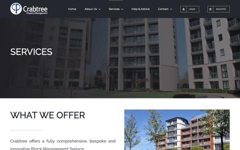 Screenshot of Services Page crabtreeproperty.co.uk - Services – Crabtree PM Ltd - captured Sept. 30, 2018