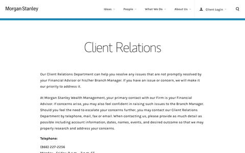 Client Relations Contact