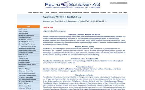 Screenshot of Terms Page video-technik.ch - Allgemeine Geschäftsbedingungen - captured April 22, 2016