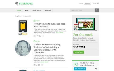 Screenshot of Blog evernote.com - Evernote Blog - Remember Everything. - captured Nov. 25, 2015