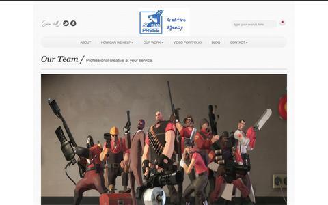 Screenshot of Team Page dagopress.com - creative agency indonesia | Dago Press - captured Sept. 30, 2014
