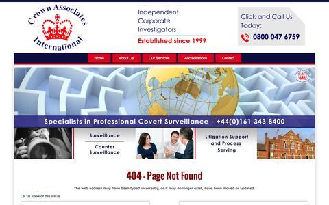 Screenshot of About Page 404 Page crownassociatesinternational.co.uk - 404 Error - captured Sept. 30, 2014