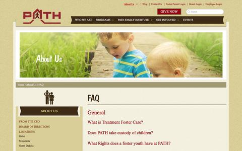 Screenshot of FAQ Page pathinc.org - FAQ - PATH, Inc. - captured Dec. 5, 2015