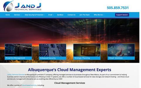Screenshot of Team Page jandjtech.com - Efficient Cloud Management-Safe Cloud Management Services - captured Nov. 17, 2016