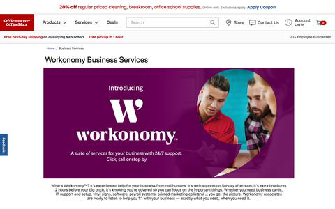 Screenshot of Services Page officedepot.com - Business Services - captured Sept. 25, 2019