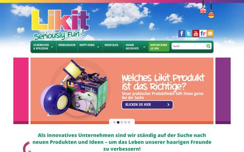 Screenshot of Home Page likit.eu - Home - captured Sept. 19, 2015