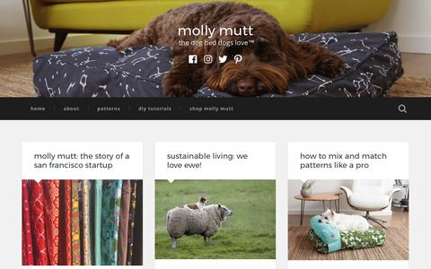 Screenshot of Blog mollymutt.com - molly mutt – the dog bed dogs love™ - captured Nov. 4, 2017