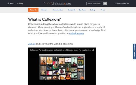 Screenshot of About Page collexion.com - About Collexion   Curated Collectibles by Collexion - captured Nov. 9, 2016