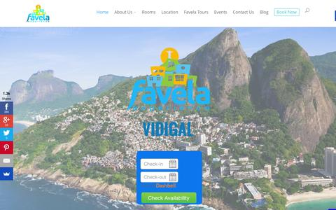 Screenshot of Home Page favelaexperience.com - Favela Experience Vidigal Social Impact Hostel - captured Jan. 21, 2015