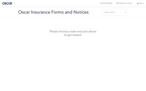 Oscar | Health insurance forms and resources