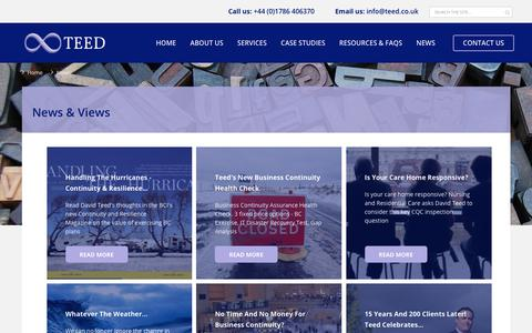 Screenshot of Press Page teed.co.uk - Business Continuity News & Views | Teed - captured Oct. 20, 2018