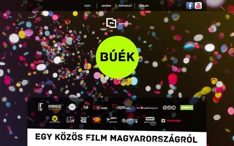 Screenshot of Home Page buekfilm.hu - BÚÉK - Egy közös film Magyarországról - captured Oct. 1, 2014