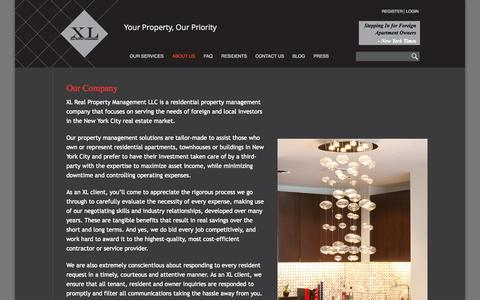 Screenshot of About Page xl-rpm.com - Our Company | XL Real Property Management - captured Oct. 4, 2014