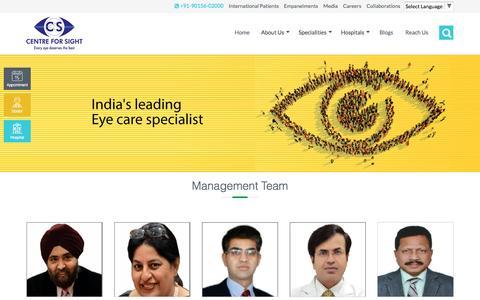 Screenshot of Team Page centreforsight.net - Center For Sight  Management - captured Jan. 5, 2017