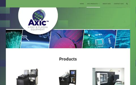 Screenshot of Products Page axic.com - AXIC Products – Axic - captured Oct. 2, 2018