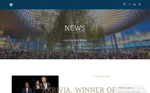 Screenshot of Press Page akrivia.com - News – Akrivia - captured Dec. 18, 2018