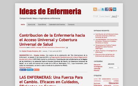 Screenshot of Home Page ideasenfermeria.org - Ideas de Enfermeria - captured July 14, 2019