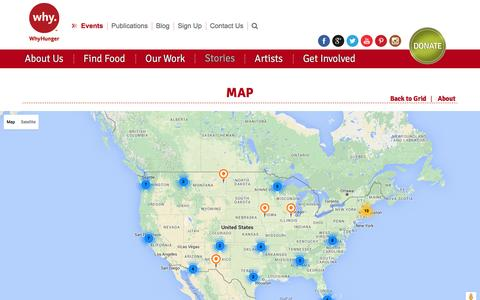 Screenshot of Maps & Directions Page whyhunger.org - Map - captured Feb. 15, 2016