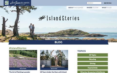 Screenshot of Blog visitsanjuans.com - Blog Island Blog | San Juan Islands Washington Visitors Bureau | Orcas Island | Lopez Island | Friday Harbor | San Juan Island - captured Sept. 29, 2018