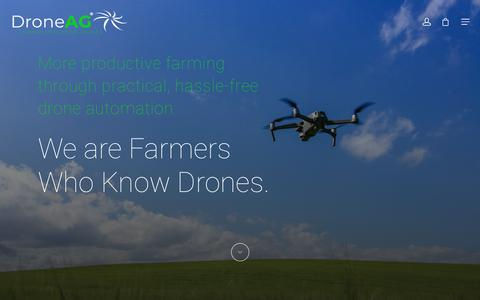 Screenshot of Home Page droneag.farm - Drone Ag: Farmers Who Know Drones - Software | Training | Sensors - captured Aug. 19, 2019