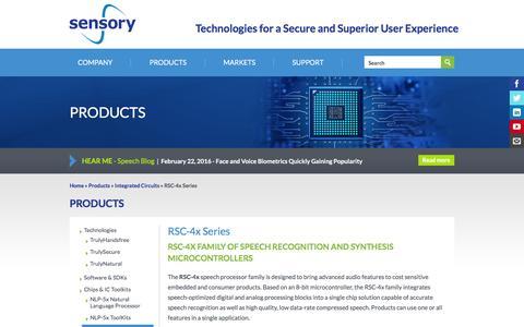 Screenshot of sensory.com - RSC-4x Series | Sensory - captured March 19, 2016