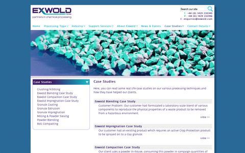 Screenshot of Case Studies Page exwold.com - | exwold.com - captured Oct. 3, 2014