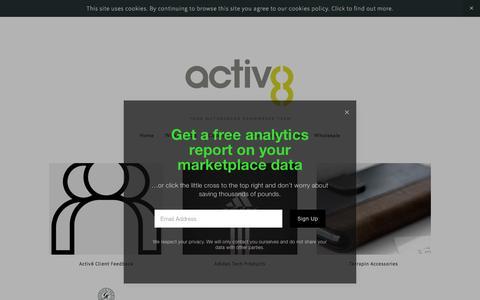 Screenshot of Case Studies Page a8uk.com - Case Studies — Activ8 - captured Sept. 22, 2018