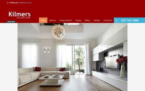 Screenshot of Home Page kilmers.co.uk - Kilmers – The Smart Move For Lettings & Management - captured Oct. 6, 2014