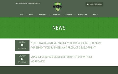 Screenshot of Press Page s4worldwide.com - S4 Worldwide LLC - captured Dec. 17, 2018