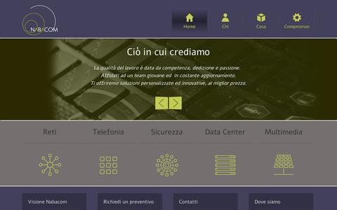 Screenshot of Home Page nabacom.it - Nabacom |Nabacom - captured Oct. 7, 2014