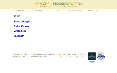 Screenshot of Team Page henschelmoberg.com - Untitled Document - captured Oct. 2, 2014