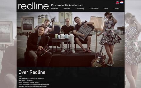 Screenshot of Team Page redline.nl - Redline Postproductie - Team - captured Dec. 16, 2016