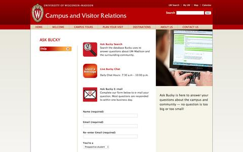 Ask Bucky | Campus and Visitor Relations