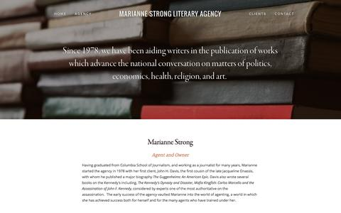Screenshot of Team Page stronglit.com - Agency — Marianne Strong Literary Agency - captured Oct. 4, 2014