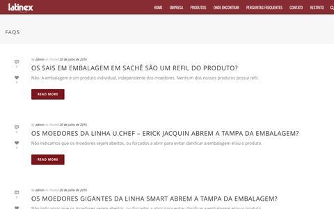 Screenshot of FAQ Page latinex.com.br - Arquivo Faqs - Latinex - captured Oct. 26, 2016